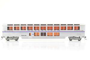 HO Con-Cor Amtrak Superliner Sightseer Lounge Car, P-IV Scheme, Excellent Cond