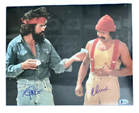 CHEECH MARIN and TOMMY CHONG Signed Autographed 11X14 Matte Photo COA BECKETT 03