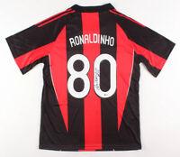 "Ronaldinho Signed A.C. Milan Adidas Jersey Inscribed ""Rio"" Beckett COA"