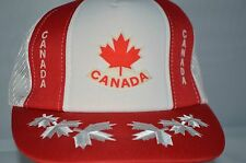 Canada Hat Cap Maple Leaf Red White Trucker Hat Pride Snapback