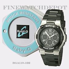 Authentic Casio Women's Baby-G Black Digital Sport Watch BGA110-1B2