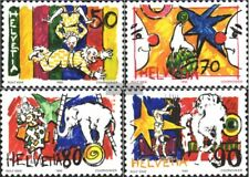 Switzerland 1478-1481 (complete issue) used 1992 circus world