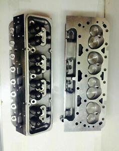 sbc loaded V 8 Cylinder Heads SBC 350 327 200cc straight PLUGS sbc set of 2 head