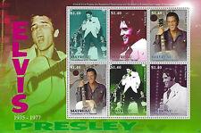 Elvis Presley $1.40 Mayreau St Vincent Grenadines Souvenir Stamp Sheet 6 Stamps