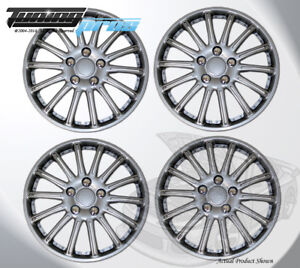 "Pop-On Wheel Rims Skin Cover 15"" Inch Silver Hubcap 15 Inches #007 Qty 4pc"