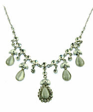 Pear Crystal Chain Costume Necklaces & Pendants