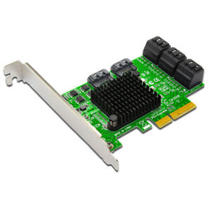 XT-XINTE SATA Riser Card 8-port PCI-E Expansion Card PCI-E to SATA 3.0 Adapter