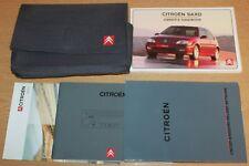 CITROEN Saxo Proprietario Manuale Manuale Wallet 1999-2003 Pack 3694