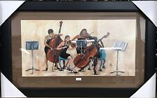 """New Framed African American Art by Annie Lee """"On Q"""" Music Print Poster"""