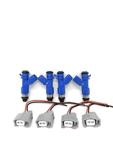 RDX 410cc Fuel Injectors For Honda Civic Acura RSX K20/24 R18 with adapter clips