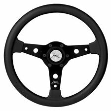 "CLASSIC SPORT STEERING WHEEL 340mm 13.4"" LUISI ""FALCON"" BLACK MOMO OMP STYLE"