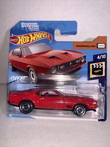 hot wheels '71 Mustang Mach1 red 007 series Diamonds are Forever SHORT CARD VHTF