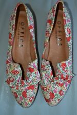 Office Ladies Size 37 Floral Slip ons