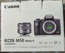 !!! NEW !!! Canon EOS M50 Mark II Mirrorless Camera with EF-M 15-45mm STM LENS
