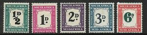 South Africa 1948-49 Postage Due Set D34/38 Mounted/Mint