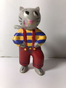 Zamiloo Djeco Cat Striped Shirt French Toy Figure RARE cute!