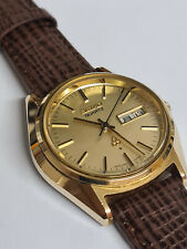 1973 SEIKO 3803 WATCH AMAZING ACCURACY GOLD CAPPED CASEVINTAGE SUPERB