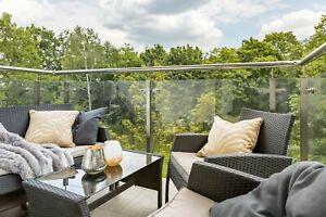 10mm Toughened Frameless Glass Balustrade Panels For Stairs Balcony Landing