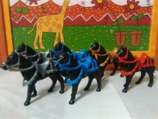 PLAYMOBIL x6 CABALLOS GALA  2ª GEN caballo HORSES CHEVAUX CAVALLI MEDIEVAL