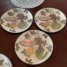 Red Wing Pottery Tampico Pattern DINNER PLATES, SET OF 3