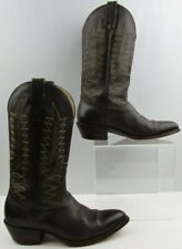 Men's Sheplers Brown Leather Western Cowboy Boots Size: 9 D