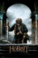 The Hobbit Battle Of 5 Armies ~ Bilbo Baggins Kneel 24x36 One Sheet Movie Poster