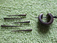 set of 10 orange tree sticks for earrings hippie piercing rods spurs Brazil pins