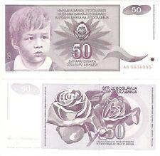 Yugoslavia 50 Dinara 1990 P-104 UNC Uncirculated Banknote