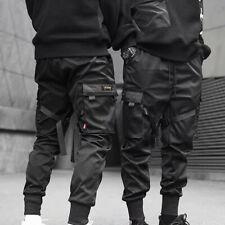 2020 Men Cargo Pants Ribbons Harem Joggers Harajuku Sweatpant Hip Hop Trousers