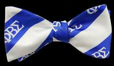 Phi Beta Sigma Royal Blue and White Self Tie Bow-Tie and Handkerchief Set