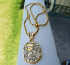 A Bathing Ape 18k Gold Platted Necklace Chain Bape Rare