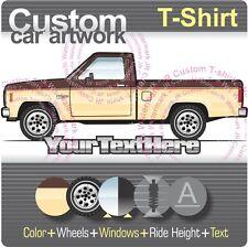 Custom T-shirt 1982-84-88 XL 4x4 ranger V6 Pickup Truck not affiliated with ford