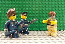 Nuevo LEGO 3 Mini Figuras 2 policías & Gun Zombie Apocalipsis miedo muertos Set