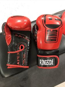 Ringside Boxing Gloves. Apex FTG2 L/XL Red and Black
