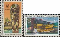 EEUU 1067,1068 (completa edición) nuevo con goma original 1972 parques nacionale