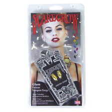 Vampire Fangs Gold Scarecrow Glam GLM120 - Dracula, Cosplay, Halloween Costume