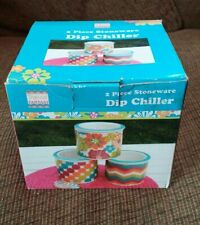 New listing New In Box 2 Piece Stoneware Dip Chiller