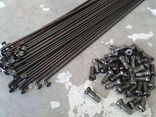36x HALO Spokes + Nipples (BLACK) Various Lengths (14 Guage) Bike Wheels Cycle