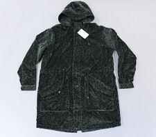 Asos Men's Longline Parka with Faux Fur Leopard Print TM8 Green Size XS NWT