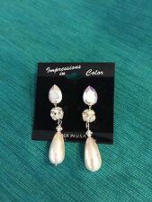 Rhinestone Vintage Earrings Drop Beautiful Formal Bridal Ballroom dance costume