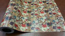 Half ream 24 inch wide Christmas Teddy Bears gift wrap 417 feet