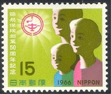 Japan 1966 Post Office Insurance/Family/Children/Welfare/Animation 1v (n25330)