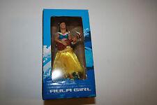 """Hula Girl Dancer Dashboard Doll Palm Bay 4"""" NIB"""
