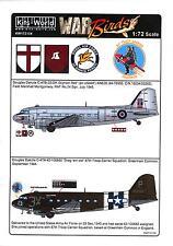 Kits World Decals 1/72 DOUGLAS C-47 SKYTRAIN British & American Versions