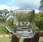 Vintage Federal Glass Mini Stein Mug Clear Shot Glass beer mug