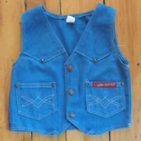 Vintage On The Go Blue Denim Vest Youth Size 7