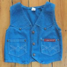 Vintage On The Go Blue Denim Vest Youth Size 7