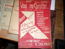 voui... ma cocotte one step chanté partition chant 1922 Gaston-rené Théroine
