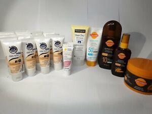 Bulk Lot Sunscreens Tanning Oils Ego Neutrogena Carroten