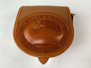 Small Dooney & Bourke Caramel Leather Purse Clutch or Shoulder Strap